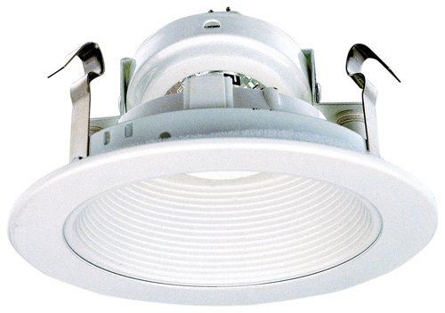 Elco Lighting EL1493DW 4'' Low Voltage Adjustable Phenolic Step Baffle Trim with Diecast Ring