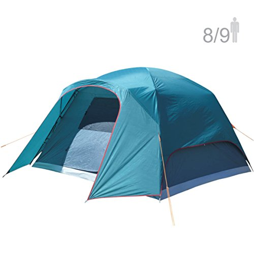 (NTK Philly GT 8 to 9 Person 10 by 12 Foot Outdoor Dome Family Camping Tent 100% Waterproof 2500mm, Easy Assembly, Durable Fabric Rainfly, Micro Mosquito Mesh for Maximum Comfort)