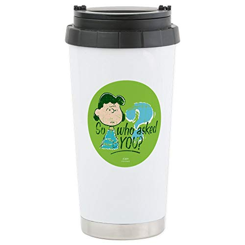 CafePress Lucy Van Pelt Stainless Steel Travel Mug Stainless Steel Travel Mug, Insulated 16 oz. Coffee Tumbler