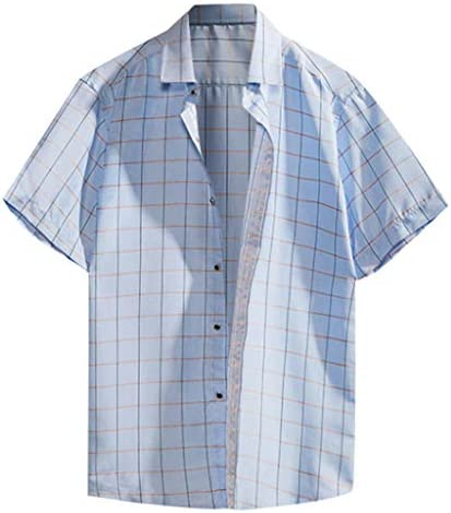 VESKRE T-Shirt for Men Men's Summer Loose Casual Daily Short Sleeve Shirt  Casual Blouse(XXXL, Blue): Buy Online at Best Price in UAE - Amazon.ae