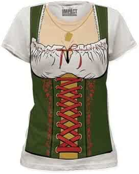 Impact Fraulein Octobeerfest Barmaid Junior's Fitted Costume T Shirt