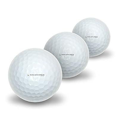Novelty Golf Balls 3 Pack Sigma Alpha Epsilon Fraternity