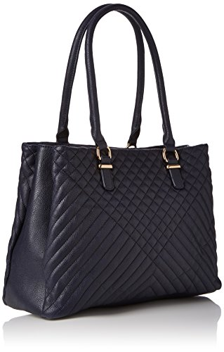 Triple Bag Di Dorothy Perkins Damen Triple Tote, Blau (navy), 39x25x15 Centimetri