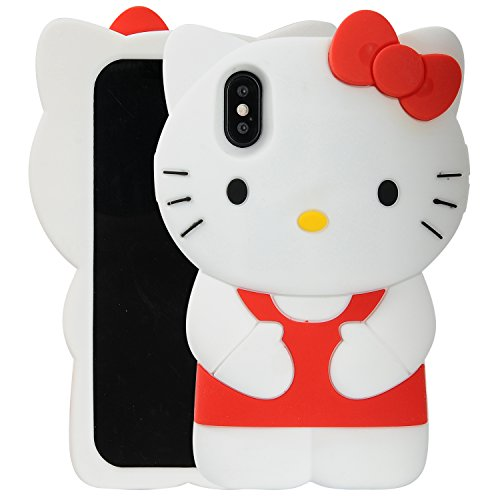 Cover Zebra Silicone Case - Case for iPhone X XS, Phenix-Color 3D Cute Cartoon Soft Silicone Hello Kitty Gel Back Cover Case for iPhone X XS Case Amp Prime(No.90)
