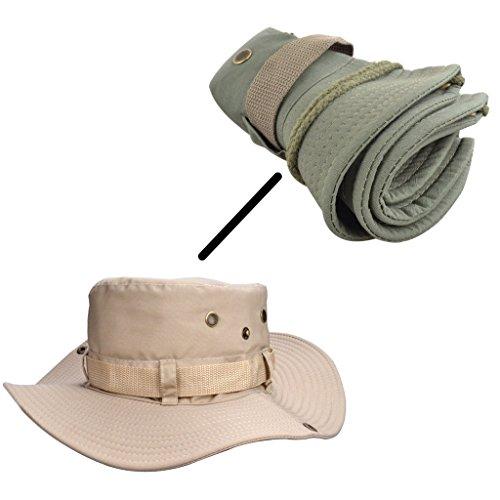 Beileer Élégant chapeau de soleil avec protection UV pour l'extérieur, la pêche, le camping, le cyclisme, la chasse, le… 3