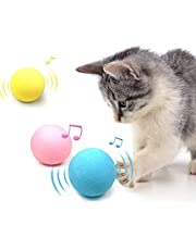 Cat Balls Toy Interactive Realistic Chirping Toy, Automatic Smart Cat Kicker Toy, 3 Lifelike Animal Sounds-Frog, Cricket, Bird, Refillable Catnip Cat Toys for Indoor Cats, Kitten, Kitty (3 Pack)