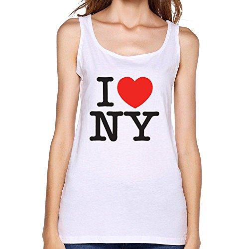 VEBLEN Women's I love New York Design Cotton Tank Top