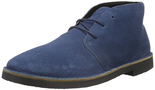 Armani Jeans Men's Desert Chukka Boot, Blue Graphite, 42 EU/8.5 M US (Shoes Armani Men Jeans)