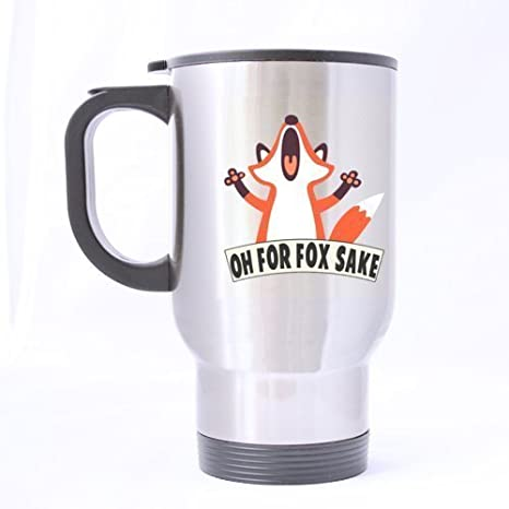 Amazon.com: Funny Crazy Fox Oh para Fox Sake Acero ...