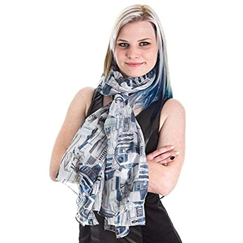 Star Wars R2D2 Fashion Scarf Multi One Size (Star Wars Masters Of Teras Kasi Moves)