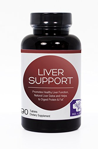 Save $$ MD.LIFE Liver Support Compare to Dr. Tobias Liver Support – 21 Day Cleanse – Supplement With Artichoke, Dandelion, Milk Thistle & Proteolytic Enzymes – Plus Solarplast to Help Digest Proteins For Sale