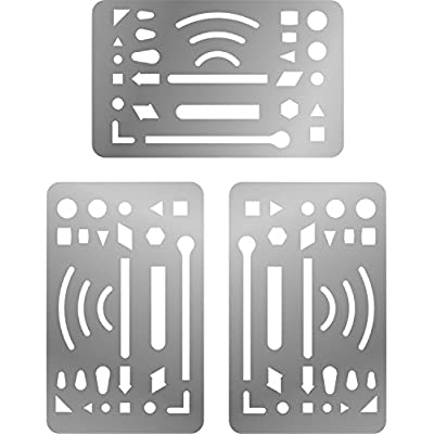 sumind-3-packs-erasing-shield-stainless