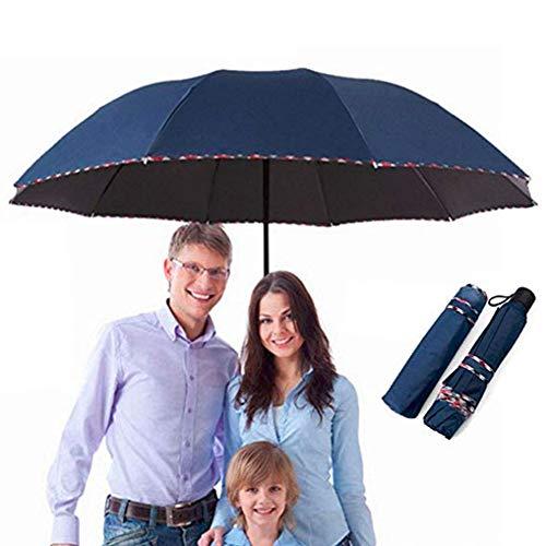 Repel Windproof Travel Large Umbrella with Teflon Coating,Reinforced Canopy, Ergonomic Handle(dark blue)