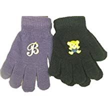 Set of Two Pairs Magic Gloves for Kids Ages 1-3 Years 1 Pair with Monogram