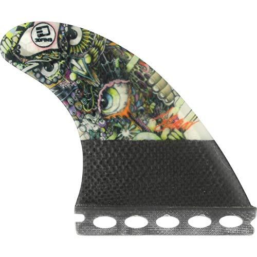 Carbon 3d Set Fins (3D Fins Josh Kerr Darkside Carbon Based 5.0 Futures Fin System)