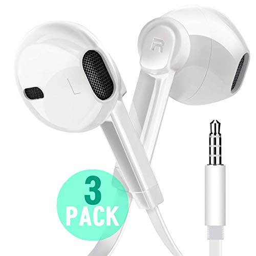 Earphone Headphones, Boost+ Premium Stereo Earbuds with Microphone, Volume Control, Tangle Free Corded Audio Headphones…