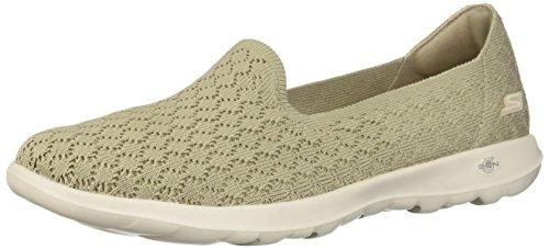 Zapatillas Para Lite Topo Sin Marrón Cordones Skechers Go daisy Walk Mujer UqxTnIZwO