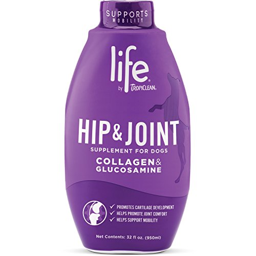 TropiClean Life Hip and Joint Supplement for Dogs, 32oz, Made in USA