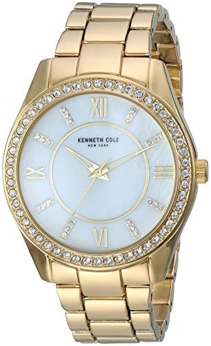 Kenneth Cole New York Women's 'Classic' Quartz Stainless Steel and Alloy Watch, Color:Gold-Toned (Model: KC50739003
