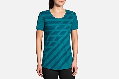 Brooks Distance Short Sleeve,(Blue) Heather Ocean/Ocean Track, - Cotton Shirt Brooks