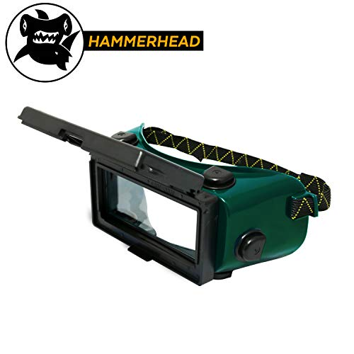 KwikSafety (Charlotte, NC) HAMMERHEAD Industrial ANSI (ANTI-FOG, Snug FIT) Welding Goggles | Flip-Up Shade 5 | Ventilation Plasma Jet Welding Torch Brazing Flame Cutting Gas Oxy-Acetylene Green - Cutting Goggle Shade