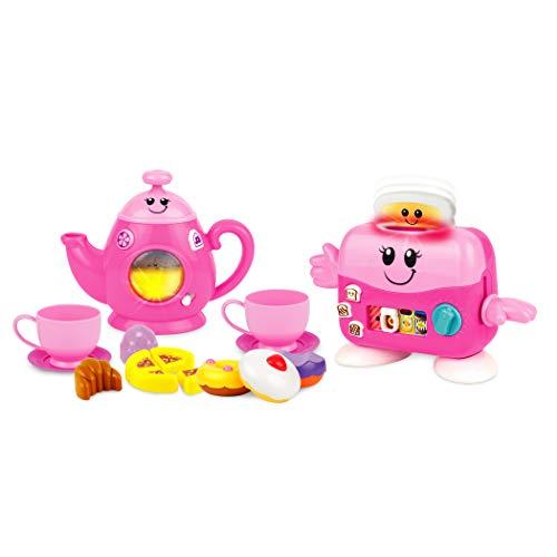 Winfun Toast 'n Fun Tea Set, Pink (Toaster Play Pretend)