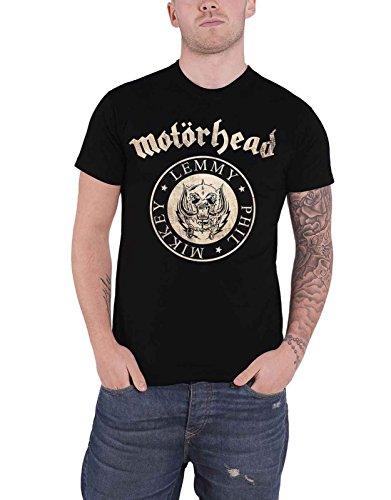 Motorhead T Shirt Undercover Seal Newsprint Band Logo Official Mens Black Size - Poster Newsprint
