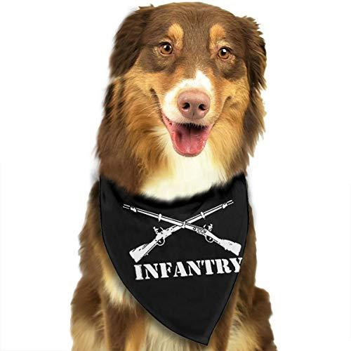 HJKH PJKL Army Infantry Branch Insignia Pet Dog Puppy Cat Triangle Bibs Scarf Bandana Collar Neckerchief Mchoice - Any Pets