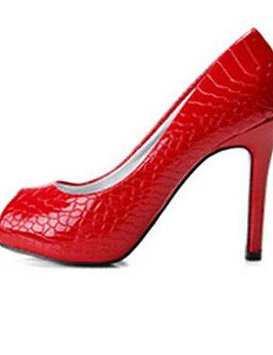 GGX  Damenschuhe-High Heels-Lässig-PU-Blockabsatz-Absätze-Schwarz     Rot B01KL7DNL4 Sport- & Outdoorschuhe eine breite Palette von Produkten 01431f
