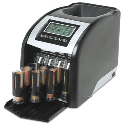 Fast Sort FS-44P Digital Coin Sorter, Pennies Through Quarters, Black/Silver, Sold as 2 Each