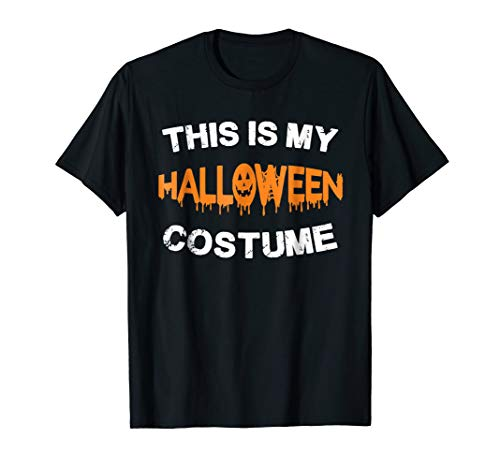 Halloween This Is My Halloween Costume Funny T-Shirt Mens -