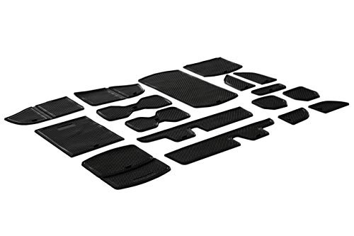 CupHolderHero for Honda Accord 2018-2020 Custom Liner Accessories - Premium Cup Holder, Console, and Door Pocket Inserts 17-pc Set (Solid Black)