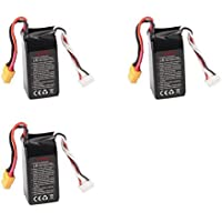 3 x Quantity of Walkera F210 Racer F210-Z-35 Racer Li-po battery 14.8V 1300mAh 40C (4S) XT-60 Power Pack Quadcopter Part - FAST FROM Orlando, Florida USA! by HobbyFlip