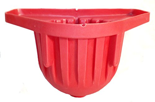 High Country Plastics WFD-R Wall Feeder with Drain, Red (Feeder Stall Horse)