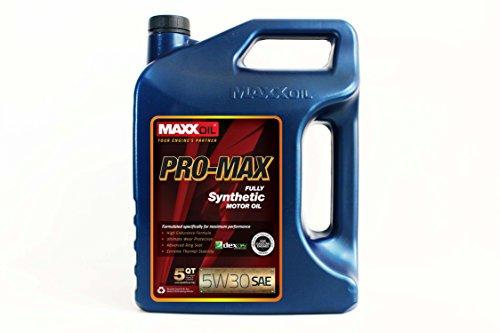 Maxx Oil Pro Max 30 Premium Synthetic Motor Oil, 5 W, 5 quart