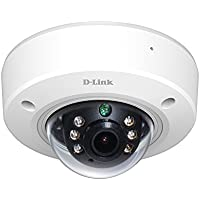 D-Link Full HD Outdoor PoE Mini Dome Camera, White/Black (DCS-6212L)