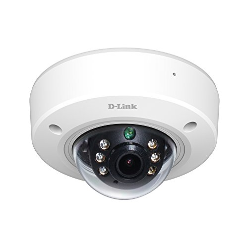 D-Link Full HD Outdoor PoE Mini Dome Camera, White/Black (DCS-6212L) by D-Link