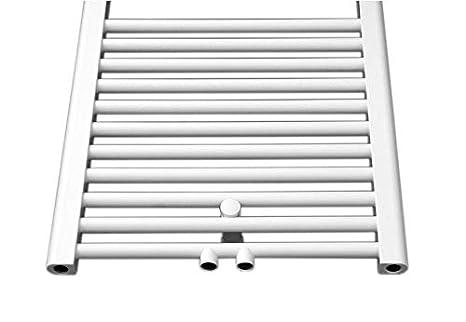 Heizk/örper Badheizk/örper Handtuchw/ärmer gerade wei/ß mit Mittelanschluss 50 mm alle Gr/ö/ßen
