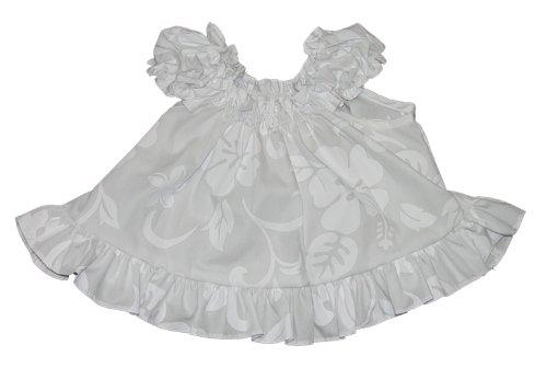 RJC Baby Girls Classic Hibiscus Puff Sleeve Wedding White 2pc Set 18 months