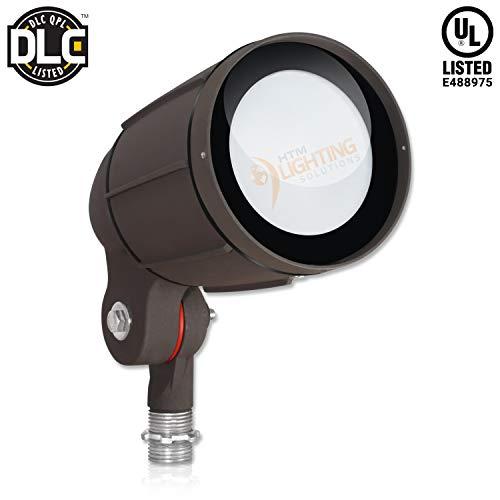 - 12-Watt LED Bullet Flood Light for 120 Volt Outdoor Landscape Lighting, 1200 lm, Bronze, 50W MH Equal, Flag Pole Light, 60° Flood Beam, Cool White (5000K, 1-Pack)