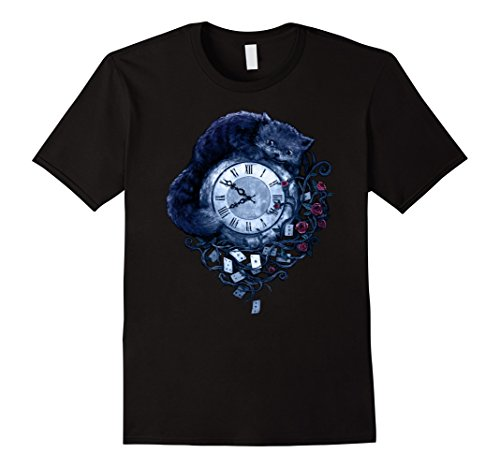 Men's Alice in Wonderland - Beautiful Tattoo Style T-Shir...