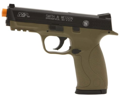smith & wesson m&p 40 co2 pistol, dark earth brown airsoft gun(Airsoft Gun)