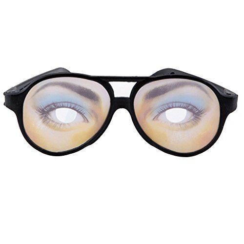 Zconmotarich Joke Funny Fake Eyes Disguise Glasses for Masquerade Halloween Costume Party Women's ()