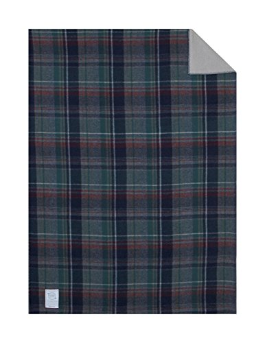 Woolrich Home Hickory Run Sherpa Lined Blanket, 50 by 68-Inch, Green Plaid