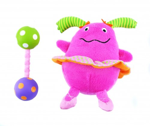 Non-sters Sassy Ci-Ci plush rattle with bonus polka-dot rattle (Rattle Polka Dot)