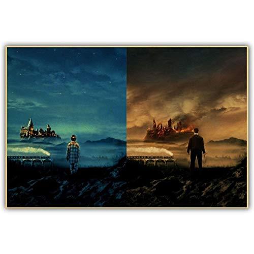 taoyuemaoyi Harry Potter Cartel De La Lona Hogwarts Castillo ...