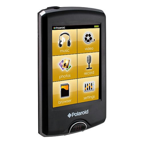 Polaroid 8GB Touch MP4 Player - Black ()