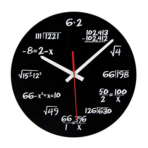 12 Inch Creative Science Engineering Math Silent Wall Clocks for Home Decor Wall Hanging Clock Quartz Modern Design - ()