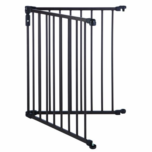 North States Superyard 3 In 1 Arched Decor Metal 2 Panel Extension, Matte Bronze (Extension Play Yard Gate)