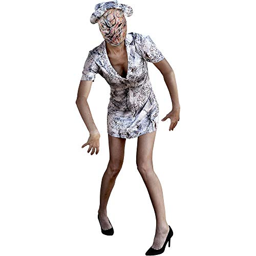 Trick Or Treat Studios Silent Hill Faceless Nurse Costume for Women, One Size, Includes a Dress, a Mask, and a Hat -